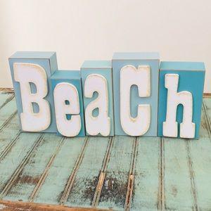 """Beach"" Letters on Blocks"